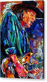 Stevie Ray Vaughan Acrylic Print by Debra Hurd