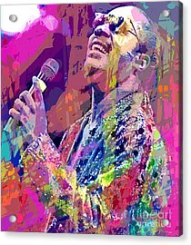 Stevie Wonder  Acrylic Print by David Lloyd Glover