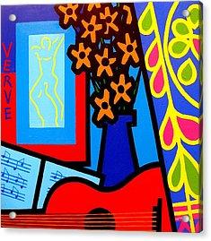 Still Life With Henri Matisse's Verve Acrylic Print by John  Nolan