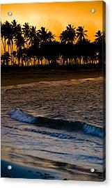 Sunset At The Beach Acrylic Print by Sebastian Musial