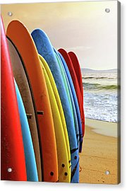 Surf Boards Acrylic Print by Carlos Caetano