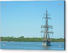 Tall Ship Elissa Acrylic Print by Robert Brown