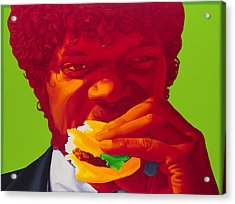 Tasty Burger Acrylic Print by Ellen Patton