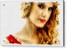 Taylor Swift Painting On Canvas Acrylic Print by Sir Josef Social Critic - ART