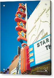 Texas Theatre Acrylic Print by Sonja Quintero