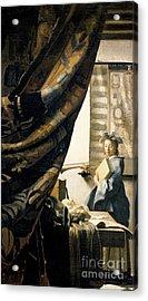 The Artist's Studio Acrylic Print by Jan Vermeer