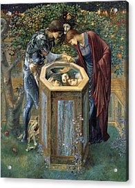 The Baleful Head Acrylic Print by Edward Burne-Jones