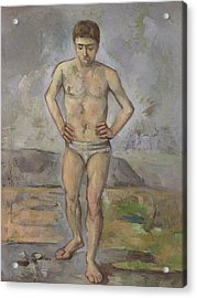 The Bather Acrylic Print by Paul Cezanne