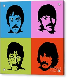 The Beatles Colors Acrylic Print by Caio Caldas