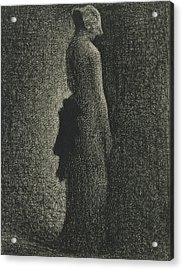 The Black Bow Acrylic Print by Georges-Pierre Seurat