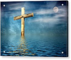 The Cross Acrylic Print by Joyce Dickens