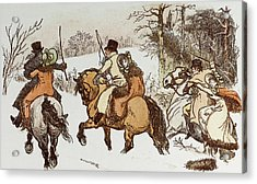 The Curmudgeons Christmas  Horse Riding Acrylic Print by English School