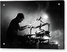 The Drummer Acrylic Print by Johan Swanepoel