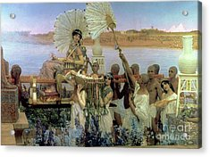 The Finding Of Moses Acrylic Print by Sir Lawrence Alma Tadema