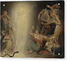 The Ghost Of Clytemnestra Awakening The Furies Acrylic Print by Mountain Dreams