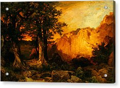 The Grand Canyon Acrylic Print by Thomas Moran