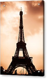 The Eiffel Tower In Paris During Sunset Acrylic Print by Nila Newsom