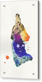 The Inexplicable Ignition Of Time Expanding Into Free Space Phase Two Number 18 Acrylic Print by Mark M  Mellon