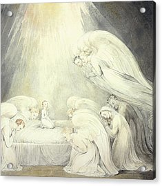 The Infant Jesus Saying His Prayers Acrylic Print by William Blake