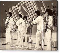 The Jackson 5 1972 Acrylic Print by Mountain Dreams