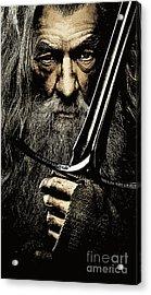 The Leader Of Mankind  - Gandalf / Ian Mckellen Acrylic Print by Prarthana Kulasekara