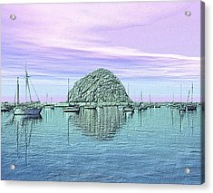 The Rock Acrylic Print by Kurt Van Wagner