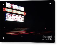 The Roosevelt Drive Inn Acrylic Print by Corky Willis Atlanta Photography