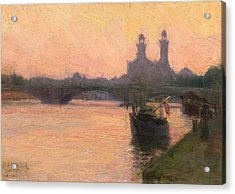 The Seine Acrylic Print by Henry Ossawa Tanner