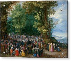 The Sermon On The Mount Acrylic Print by Jan Brueghel the Elder