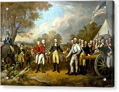 The Surrender Of General Burgoyne Acrylic Print by War Is Hell Store