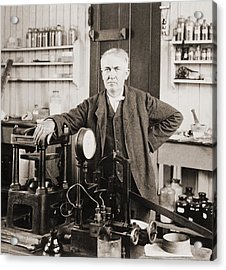 Thomas A. Edison 1847-1931, In His West Acrylic Print by Everett