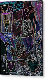 Thought Of Love Acrylic Print by Kenneth James