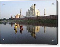 Timeless Taj Mahal Acrylic Print by Michele Burgess