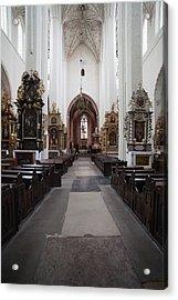 Torun Cathedral Interior In Poland Acrylic Print by Artur Bogacki