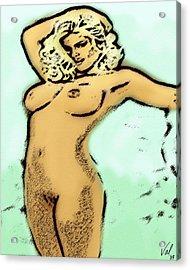 Tragic Beauty Acrylic Print by Val Designs