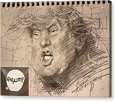 Trump Acrylic Print by Ylli Haruni