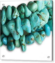 Turquoise Stones Acrylic Print by Blink Images