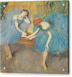 Two Dancers At Rest Acrylic Print by Edgar Degas