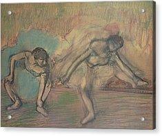 Two Dancers Resting Acrylic Print by Edgar Degas