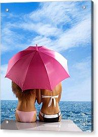 Two Women Relaxing On A Shore Acrylic Print by Oleksiy Maksymenko