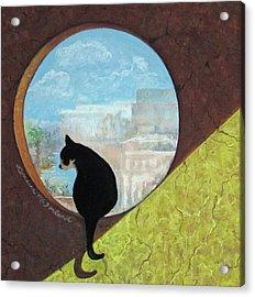 Un Gato De La Isla Mujeres - Pastel Acrylic Print by Lorraine McFarland