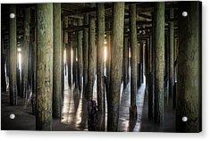 Under The Boardwalk Acrylic Print by Kristopher Schoenleber
