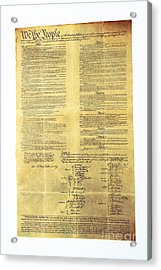 U.s Constitution Acrylic Print by Photo Researchers, Inc.