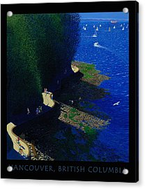 Vancouver North Seawall Poster  Acrylic Print by Neil Woodward