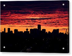 Vancouver Sunset  Acrylic Print by Naman Imagery