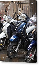 Vespa In Florence Acrylic Print by Andre Goncalves