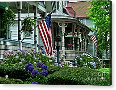 Victorian House And Garden. Acrylic Print by John Greim