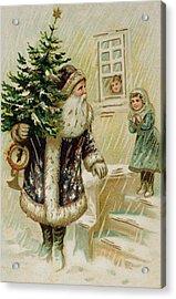 Vintage Christmas Card Acrylic Print by American School