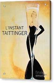Vintage French Champagne Acrylic Print by Mindy Sommers
