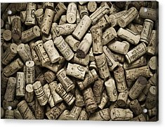 Vintage Wine Corks Acrylic Print by Frank Tschakert